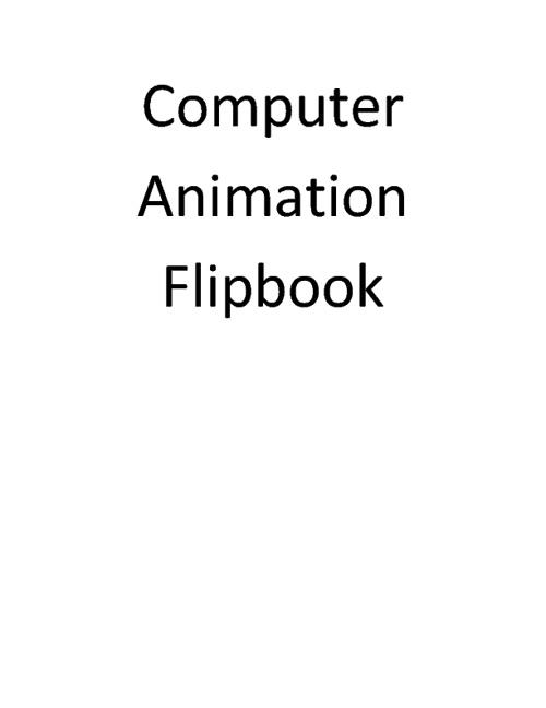 Computer Animations Flipbook