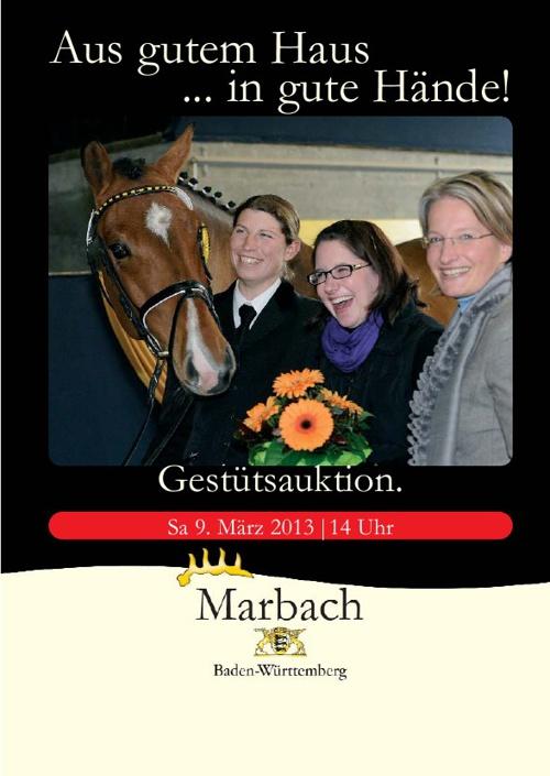 Katalog Gestütsauktion 2013 des Haupt- und Landgestüts Marbach
