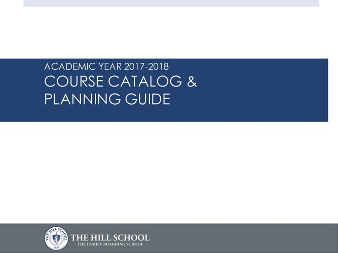 2017-18 Course Catalog and Planning Guide