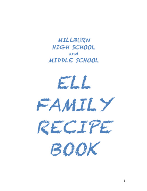 ELL Family Recipe Book 2010-11