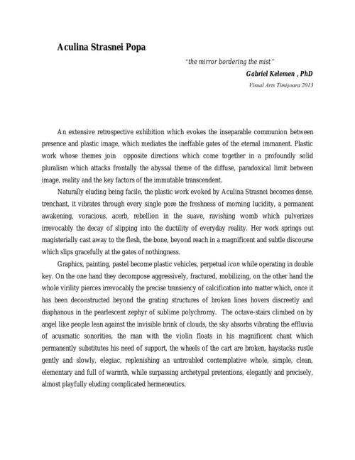 About the Artist by Gabriel Kelemen , PhD