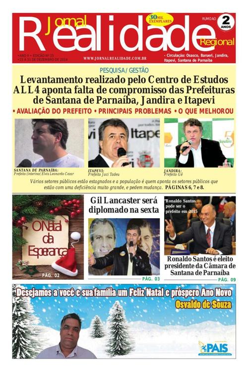 JORNAL REALIDADE ED Dezembro 2014