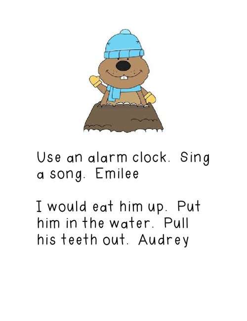 How to Wake a Groundhog by Mrs. Piltz' Kindergarten