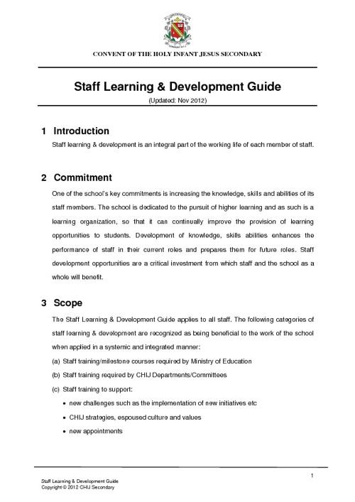 CHIJ Secondary Staff Matters