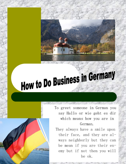 0408 Business in Germany