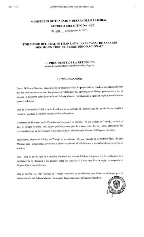 20131230 - gaceta oficial de salario minimo