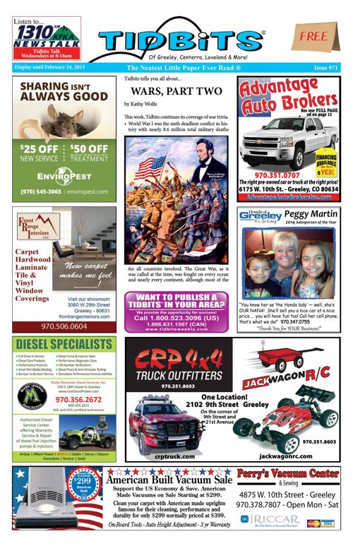 Tidbits of Greeley/Centerra/Loveland, Issue 971
