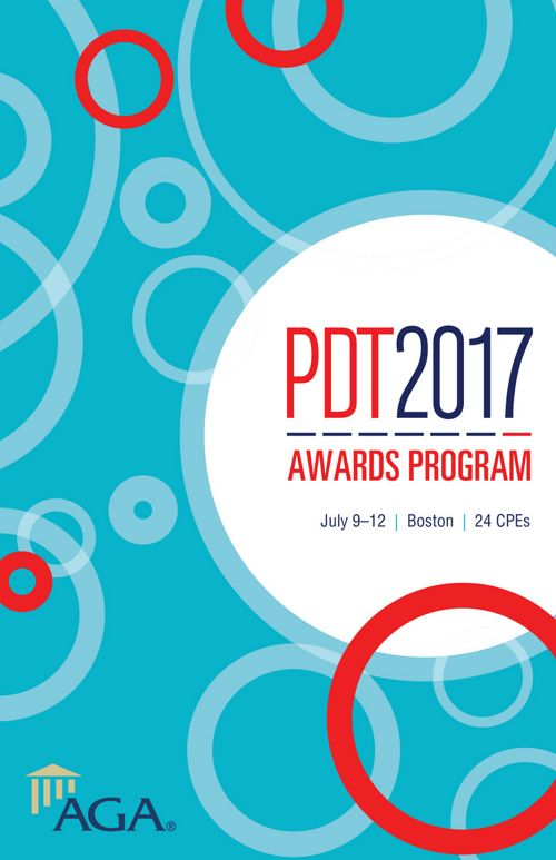 AGA PDT 2017 Awards Program