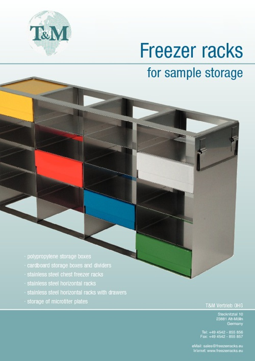 Freezer racks for sample storage