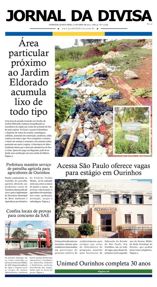 JORNAL DA DIVISA - Edição de 12 de Abril de 2012.