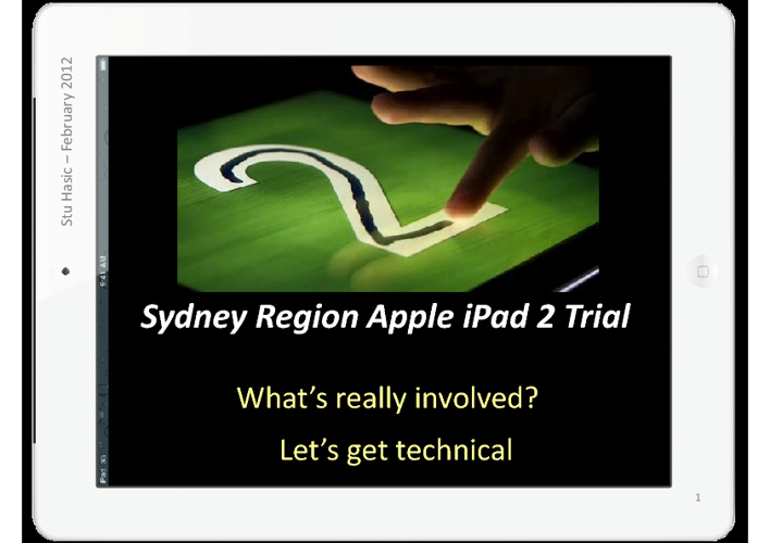 Introducing iPad2 into schools.
