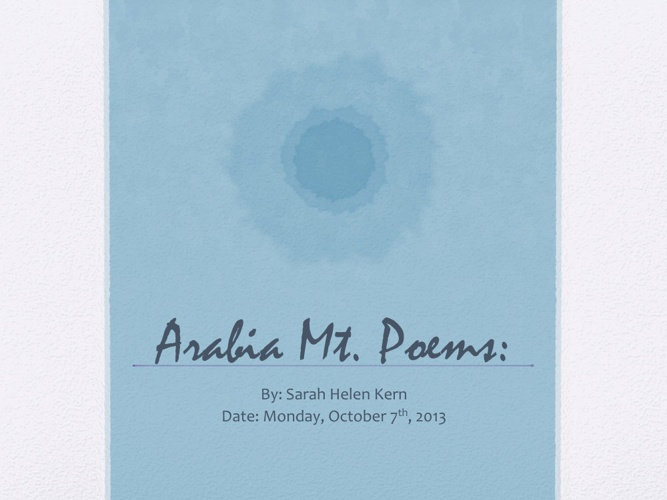 Arabia Mt. Poems