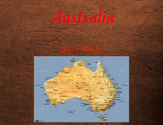Australia Brochure