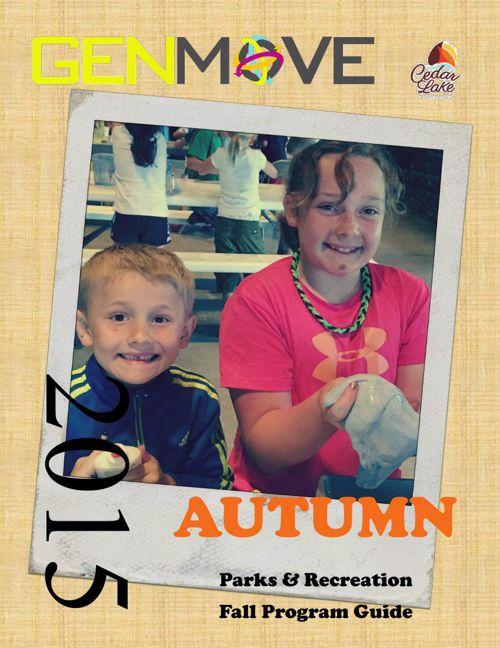 2015 Cedar Lake Recreation Fall Brochure