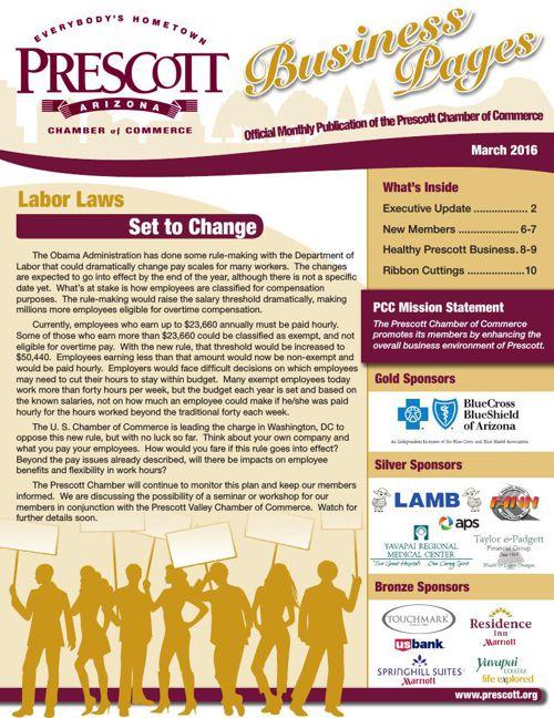 Prescott Chamber 3-16 Newsletter