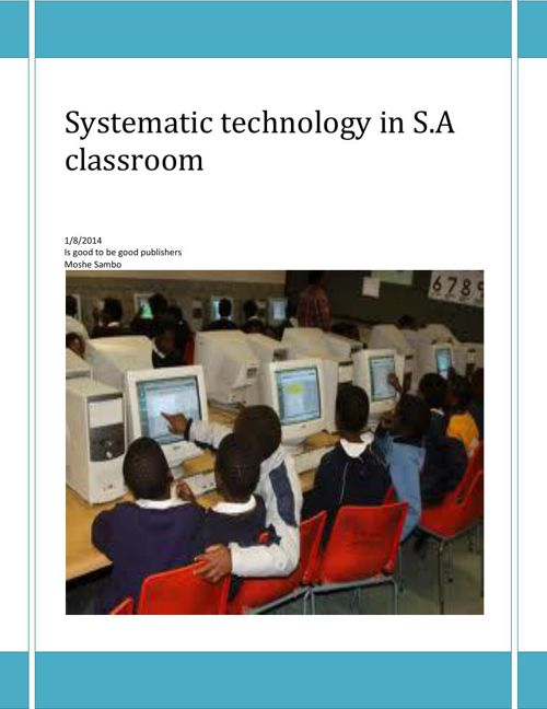 Systematic technology in 13