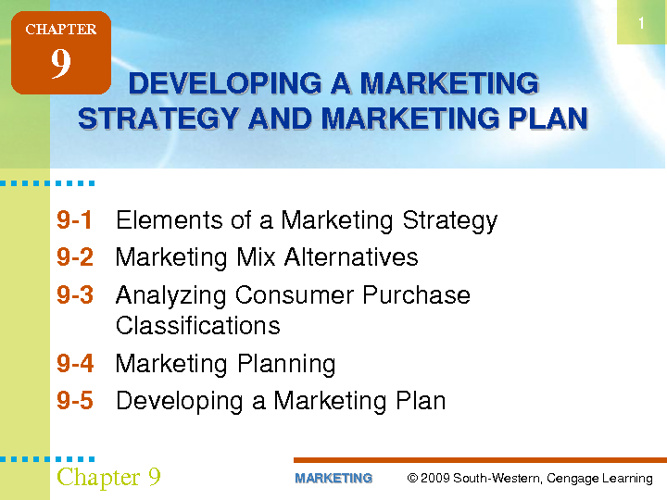 Developing Market Plan