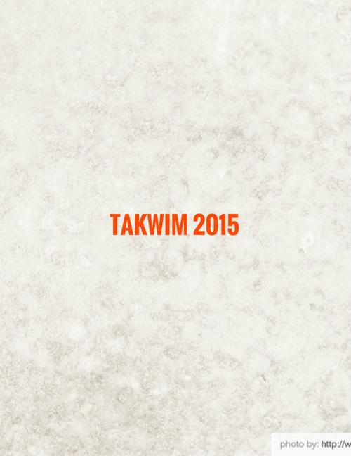 TAKWIM  2015