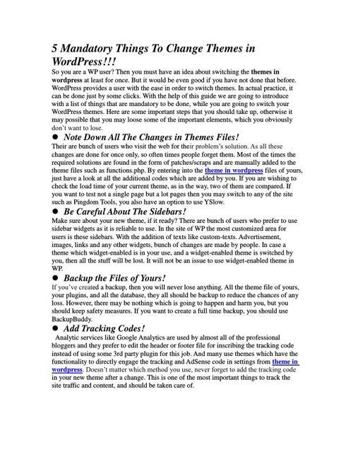 5 Mandatory Things To Change Themes in WordPress (1)
