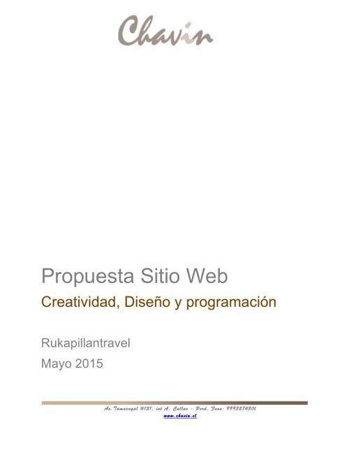 Propuesta Sitio Web