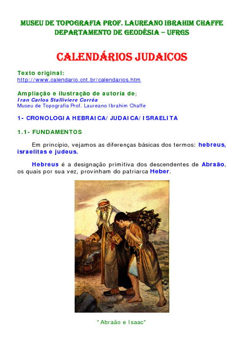 CALENDARIO JUDAICO PERMANENTE