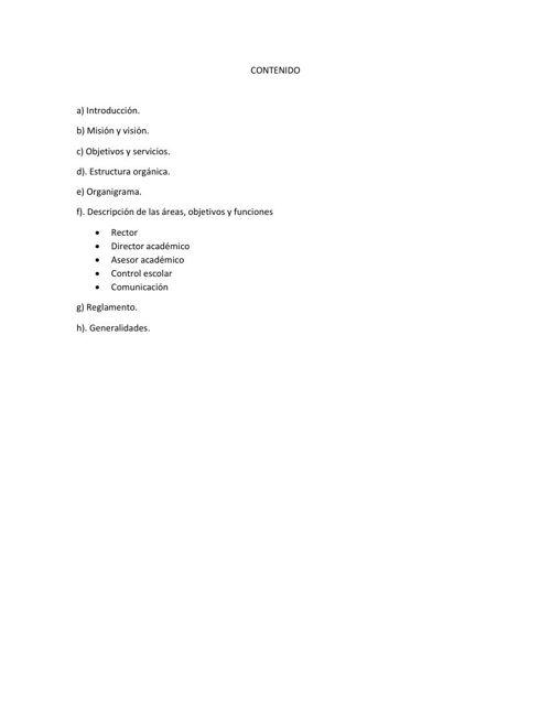 CONTENIDO del manual 1