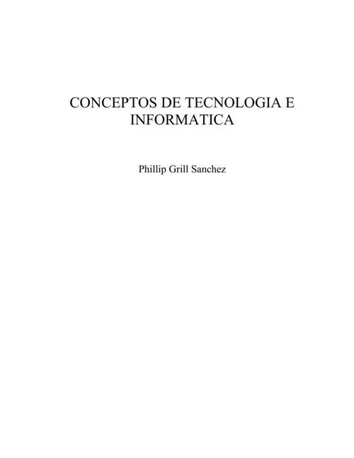 CONCEPTOS DE TECNOLOGIA E INFORMATICA