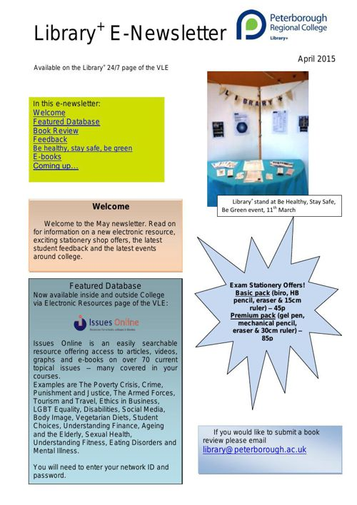 E-Newsletter April 2015