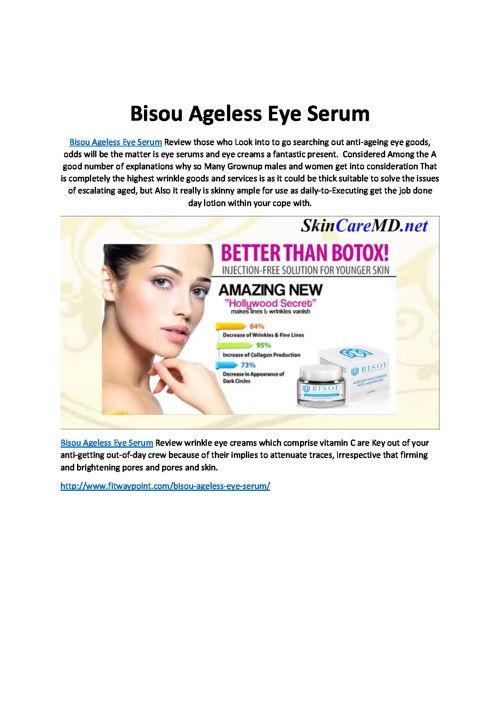 Bisou Ageless Eye Serum
