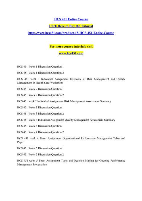 hcs 451 week 1 worksheet