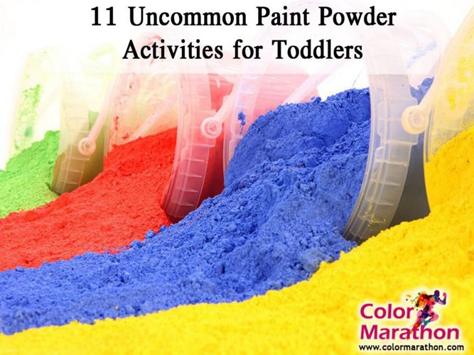 11 Uncommon Paint Powder Activities for Toddlers