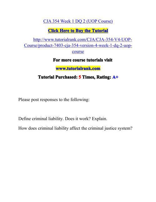 CJA 354 Potential Instructors / tutorialrank.com