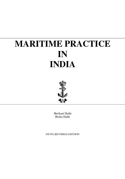 Maritime Practice in India