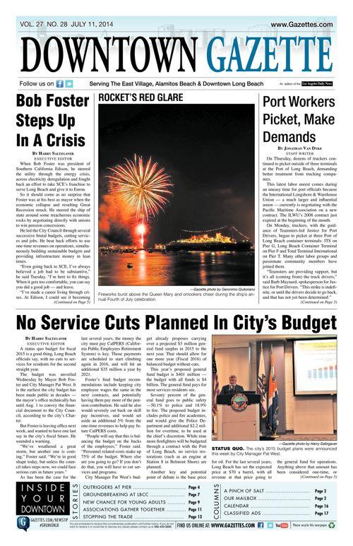 Downtown Gazette  |  July 11, 2014