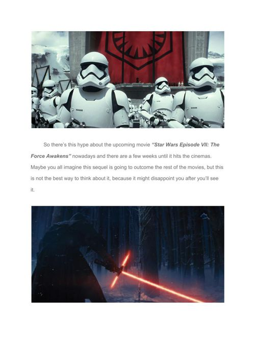 """What to expect from """"Star Wars Episode VII- The Force Awakens""""-"""