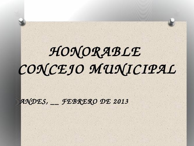 Informe de gestión Personería de Andes al Concejo Municipal 2013