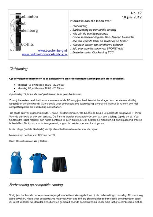 BCC-flits no.12 van 10 juni 2012 (herzien)