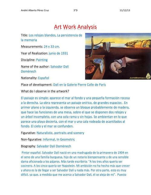 Analisis de obra
