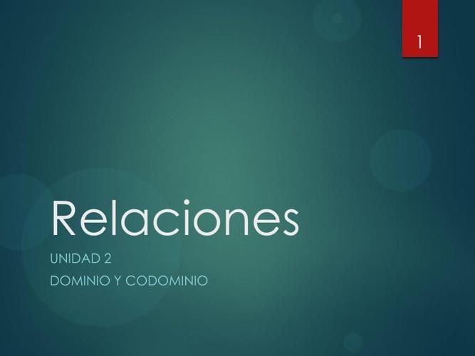 Relaciones-I