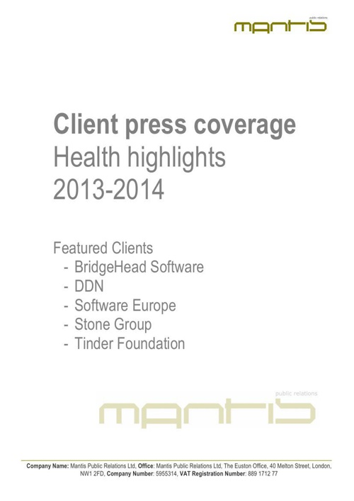 Health highlights 2013-2014