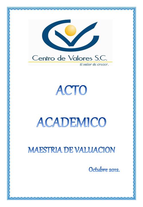 Invitación de Maestría 2012