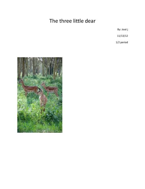 The Three Little Deers