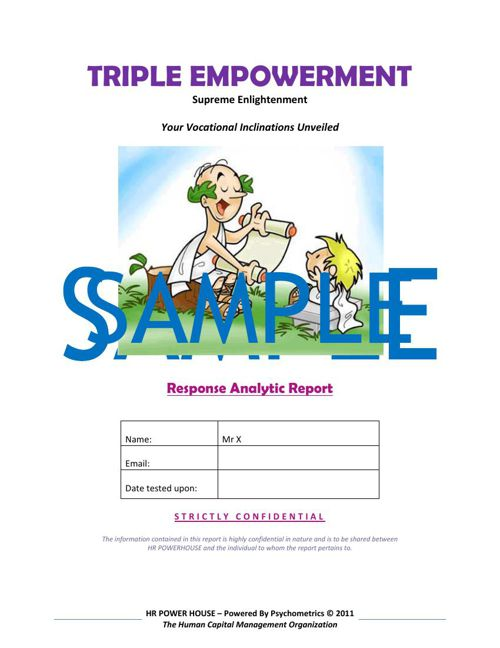 EMPOWERMENT - SAMPLE REPORT