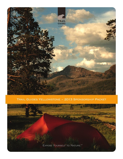 Trail Guides Yellowstone Sponsorship Packet