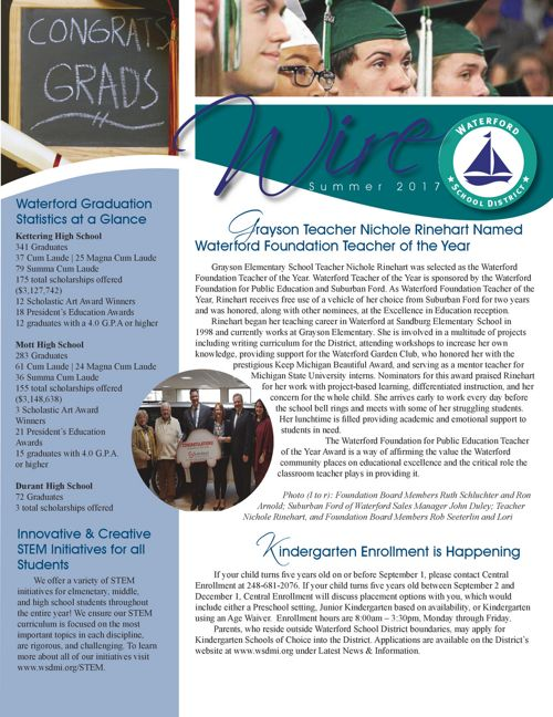 Waterford School District Wire Newsletter