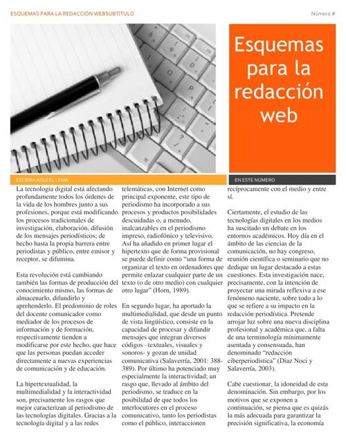 esquemas para la redacción web