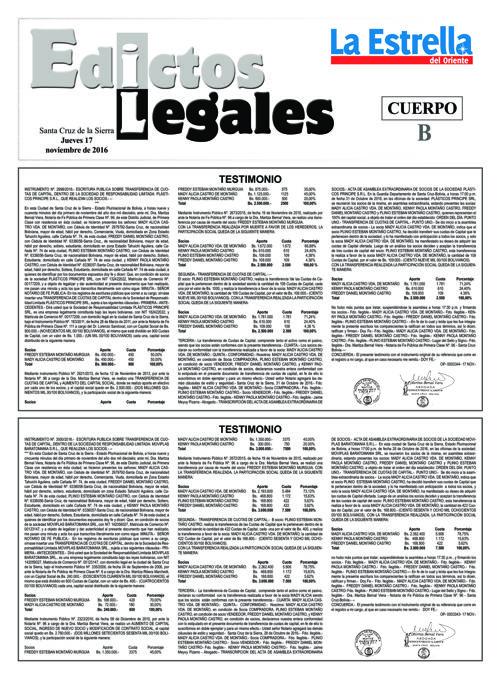 Judiciales 17 jueves - noviembre 2016