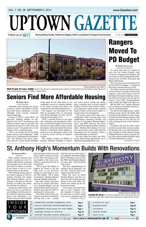 Uptown Gazette  |  September 5, 2014