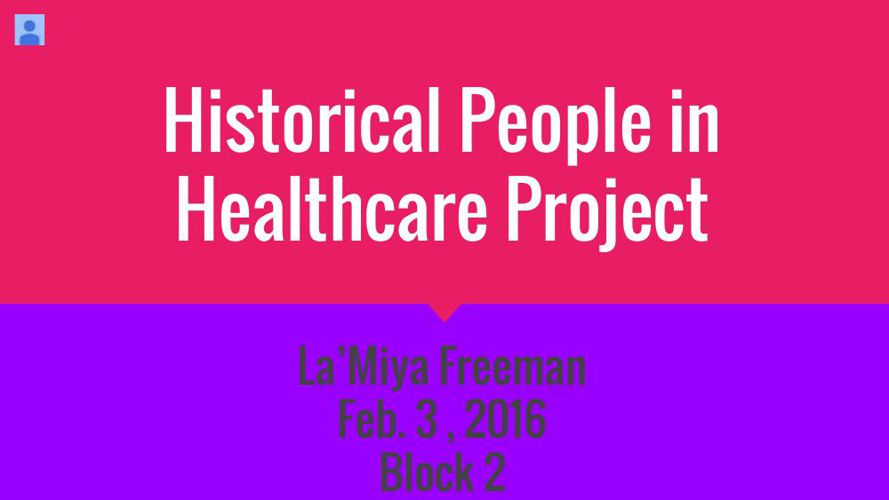 Historical People in Healthcare Project