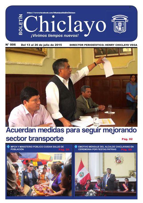 """Boletín """"Chiclayo"""" - N° 006"""